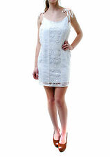 For Love & Lemons Women's Authentic Strappy Flowers Lace Dress White BCF65