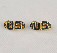 A PAIR OF WW2 US ARMY OFFICER U.S. COLLAR BADGE INSIGNIA -31995