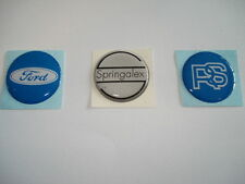 SPRINGALEX CENTER CAP BADGE X 3 RS SPRINGALEX & FORD mexico rs2000 escort mk1 2