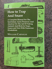 TRAPS TRAPPING SNARES RABBITS NETS VERMIN CARNEGIE MOLES FOXES
