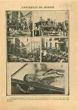 Attack in Madrid Alfonso XIII of Spain Anarchist Mateo Morral 1906 ILLUSTRATION