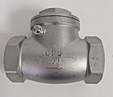 NEW 2 INCH FNPT SWING CHECK VALVE 304 SS (CF8) 200 PSI WOG NIB