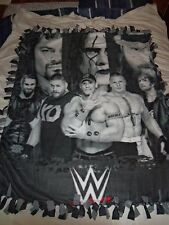 FANTASTIC COLLECTOR ITEM WWE WRESTLING HAND TIED DOUBLE SIDED FLEECE BLANKET~NEW