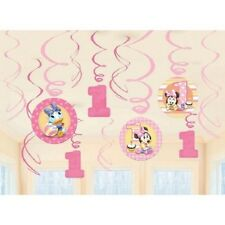 Minnie Mouse 1st Birthday Party Swirl Decorations Value Pack 12 Pieces