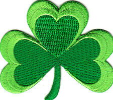 IRISH SHAMROCK-GREEN CLOVER-ST. PATRICK'S DAY-LUCKY-IRON ON EMBROIDERED PATCH