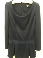ASOS Navy Stretch Business Tunic Blouse Top Size 10 Preloved