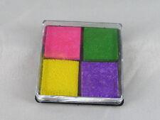 Stempelkissen  4 Farbig #1  Stamping  4 x 4 cm   Neu