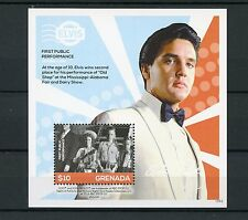 Grenada 2015 MNH Elvis Presley His Life in Stamps 1v S/S III 1st Pub Performance