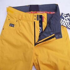 "SURFANIC JACKSON MENS L 36""W  SKI SNOWBOARD PANTS TROUSERS SALOPETTES YELLOW"