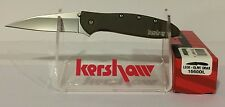 "KERSHAW ""USA"" - Olive Green LEEK Assisted SPEEDSAFE Knife w/ SAFETY LOCK 1660OL"