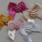 50pcs U pick Mini Satin Ribbon Flowers Bows Gift DIY Craft Wedding Decoration M1