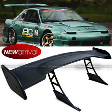 "For 240SX JDM 57"" GT Style Down Force Trunk Spoiler Wing Matte Black"