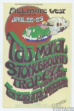 Bill Graham 277 Postcard Ad Back Taj Mahal Stoneground 1971 Apr 22