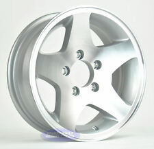 "(2)- Boat Trailer Wheels Rims 15"" ALUMINUM 5 Star 5 on 4 1/2"" Bolt Pattern"