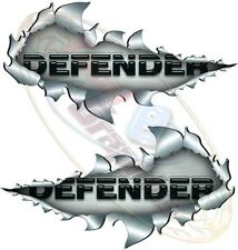 Large Size Defender Metal Rip Open Sticker 4X4 Race Car Truck Van Off-Road