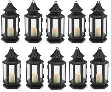 "Black Stagecoach Wedding Candle Lantern 8"" Tall (Set of 10) Event Supply 13361"