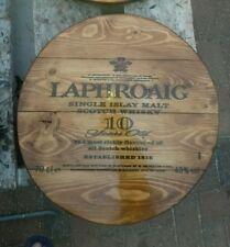 Laphroaig  malt whisky plaque wooden sign  mancave shed bar pub