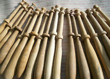 Rare Collection of  Vintage French Wood Bobbins Lace Making Spools for fine lace