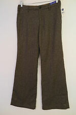 NWT Gap Low Rise Brown w/Gold Accent Herringbone Wool Blend Trousers Size 10