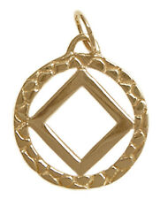 Narcotics Anonymous, #481-9, Antique Finished, NA Nugget Style Pendant, Med Size