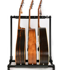 New 3 Triple Folding Multiple Guitar Bass Holder Rack Stand