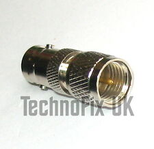 BNC female to mini UHF male adapter (BNC F to mini UHF M) fits Motorola MCS2000