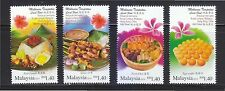 MALAYSIA 2014 LOCAL FOOD HONG KONG JOINT ISSUE COMP. SET OF 4 STAMPS MINT MNH