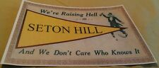 Old Raising Hell In Seton Hill College Poster Greensburg Pa. Flag Drinking Repo