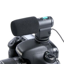 Black Mini External Stereo Microphone For 3.5mm MIC Jack DSLR Camera Camcorder