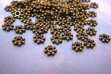 100pcs Antique Bronze Cute Daisy Metal Bead Spacer 4mm-3460