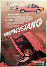 1981 FORD MUSTANG-AD/PICTURE/PRINT 79 80 82 SHELBY T TOP 5.0 LITRE SVO SVT
