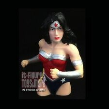 DC Comics Coin Bank PX New 52 WONDER WOMAN Plastic Vinyl Bust IN STOCK NOW!
