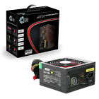 ACE 650W Black Gaming PC PSU Power Supply 6 Pin PCI-E 120mm Red Cooling Fan
