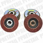 "5 FLAP DISCS CHOOSE: 40/80 Grit Fits Angle Grinder Wheel 4.5"" 115mm Sanding Disk"