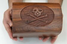 HANDMADE PIRATE TREASURE CHEST JEWELRY TRINKET WOOD BOX #SF-63L