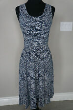 NEW Mata Traders ModCloth Cotton Jersey Here & There Vintage Style Dress S Blue