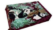 Solaron Korean Blanket throw thick Mink Plush king size baby Panda burgundy new