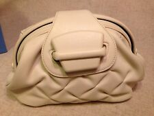 NWT Smythson Nancy Clutch Handbag White