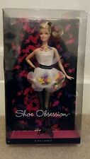 Barbie shoe obsession doll - collector pink label brand new unopened box