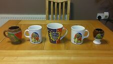 VINTAGE / RETRO /  SET OF 4 CADBURYS CREME EGG MUGS & 1 EGG CUP / RARE GIFT