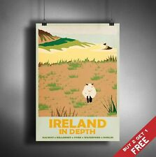 A3 Large IRELAND POSTER Vintage Retro Travel Wall Art Home Decor Print Picture