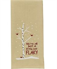 Christmas Vacation ~ We're All Just Flaky Embroidered Applique Dish Towel