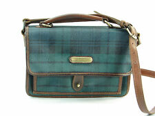 POLO RALPH LAUREN Green Black Watch Plaid Crossbody Bag Flap
