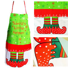 Christmas Novelty Cooking Kitchen Elf Santa's Little Helper Apron Funny Party