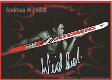 Autogramm AK Andreas Widhölzl Skisprung Skispringer Olympiasieger Österreich rot