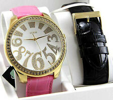 GUESS LADIE'S CAROUSEL CHANGEABLE STRAP CRYSTALS WATCH U10544L1