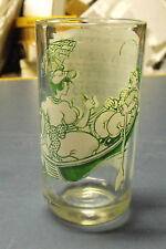 VINTAGE 1950'S  BIG TOP PEANUT BUTTER GLASS TUMBLER ROW ROW ROW YOUR BOAT