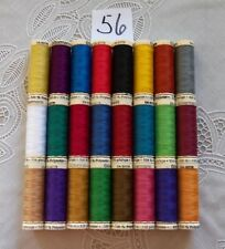 24 different colors GUTERMANN 100% polyester thread 110 yards each Spool (#56)