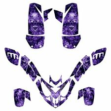 Polaris Predator 500 graphics deco sticker kit NO9500 Purple Zombie Skull