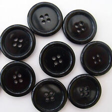 5 x  black coat buttons 20 mm ( size 32)  4  holes new for sewing / craft